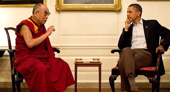 Barack Obama und Dalai Lama